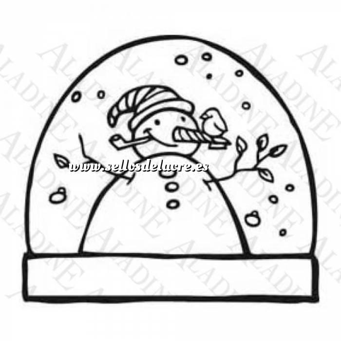 Imagen Diseños inmediatos Sello de Caucho - Bola Navideña con un muñeco de nieve (01350) (Últimas Unidades)