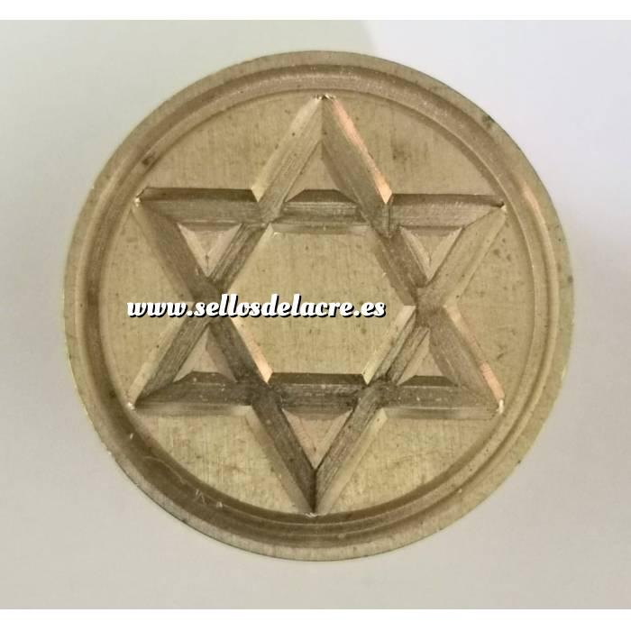Imagen Diseños inmediatos Sello lacre mango largo - SIMBOLOS - Estrella de David (Últimas Unidades)