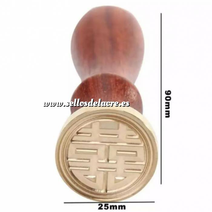 Imagen Diseños inmediatos Sello lacre mango largo - SIMBOLO CHINO (Últimas Unidades)