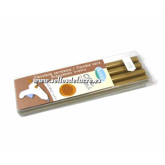 Imagen Barras para PISTOLA Barra Lacre 11mm tipo Silicona Dorado PACK DE 4 para Pistola