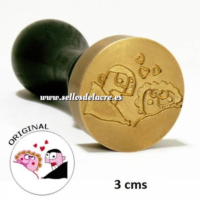 Imagen Con NUESTRO diseño Sello Lacre 3 cms. Personalizado con TU diseño