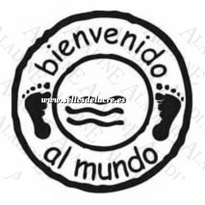 Imagen Diseños inmediatos BAUTIZO SELLO CAUCHO BIENVENIDO AL MUNDO (Descatalogado) (ultima ud) (Últimas Unidades)