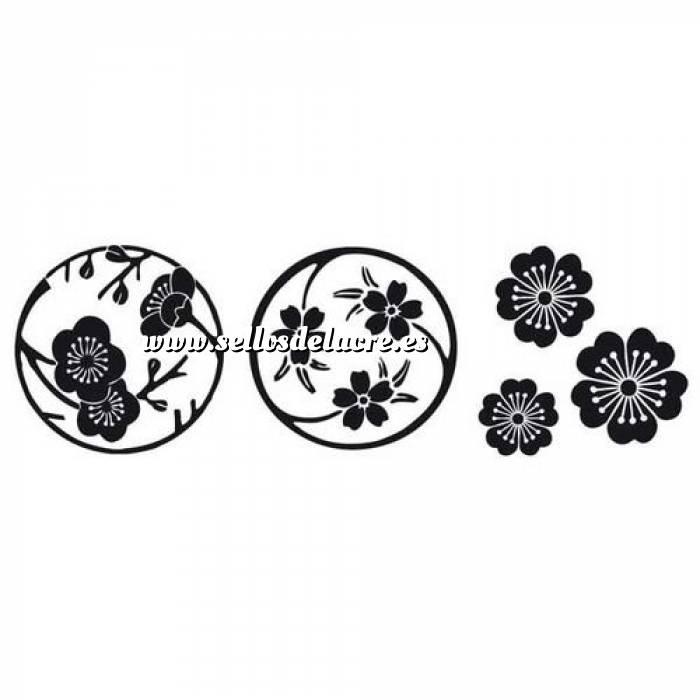 Imagen Diseños inmediatos SELLO CAUCHO CUBO FLORES DE SAKURA (Últimas Unidades)