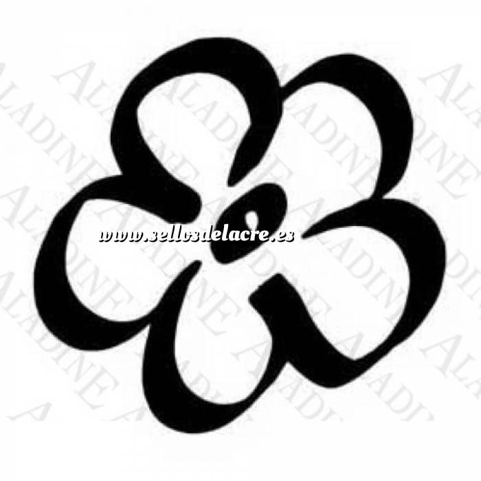 Imagen Diseños inmediatos SELLO CAUCHO FLOR CINCO PETALOS (Descatalogado) (ultima ud) (Últimas Unidades)
