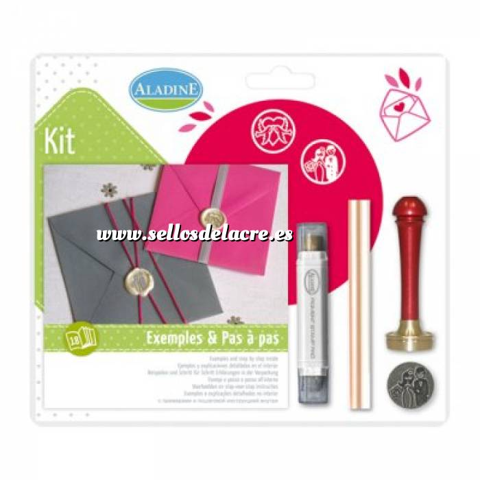 Imagen Kits de sellos de lacre KIT LACRE BODA PAREJA-PALOMA