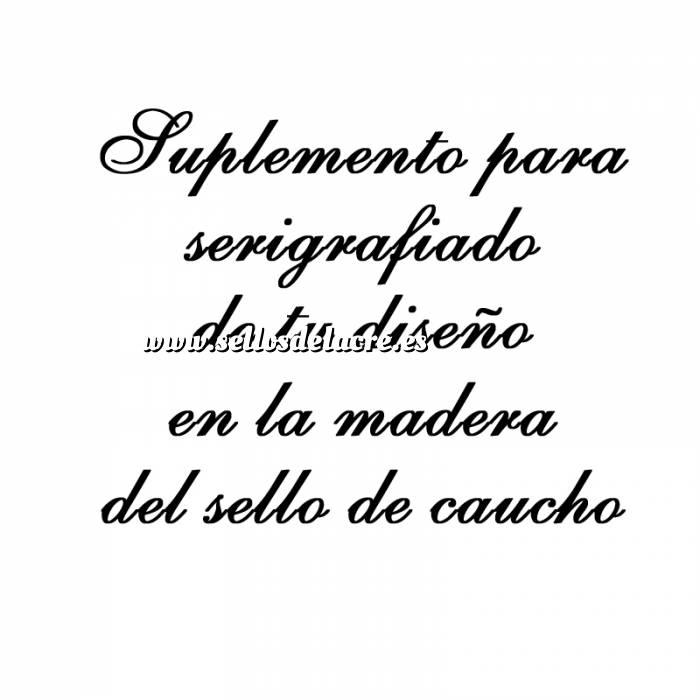 Imagen Personalizado Taco madera 5x5 Suplemento Serigrafía en sello de Caucho TACO DE MADERA 5X5 cm