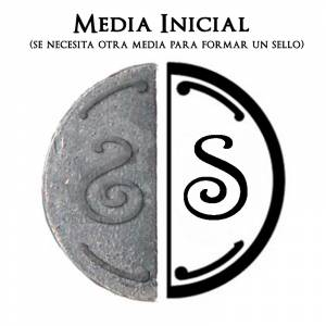 2 Iniciales Intercambiables - Placa Media Inicial S para sello vacío de lacre