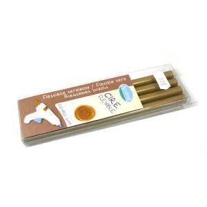 Barras para PISTOLA - Barra Lacre 11mm tipo Silicona Dorado PACK DE 4 para Pistola